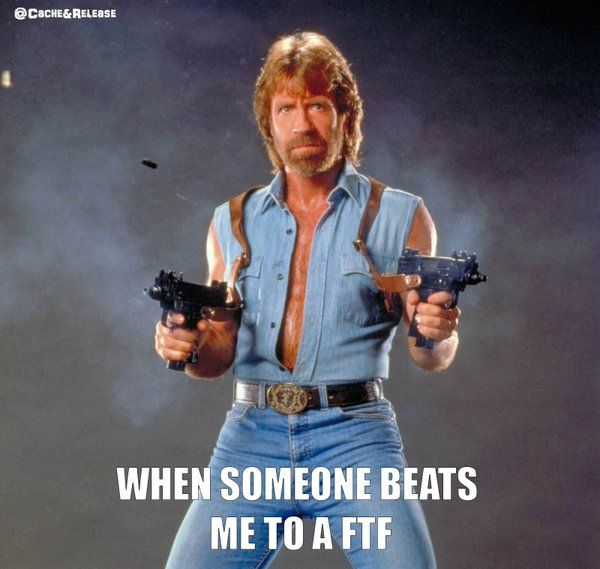 If you're in a FTF race with Chuck Norris, you let Chuck Norris win.  (by CacheandRelease) #IBGCp