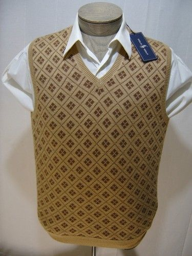 Polo Ralph Lauren Mens Golf XL Vest Fair Isle Silk Cotton Argyle ...