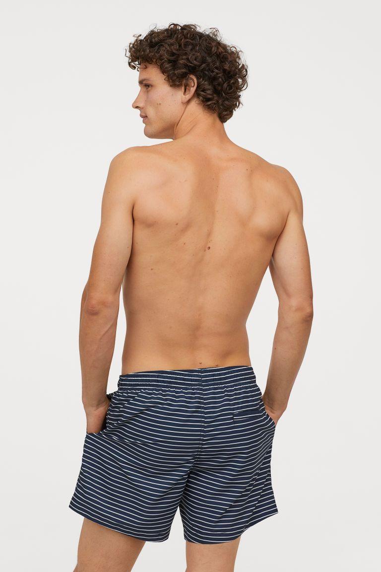 1aea373b36 H&M Printed Swim Shorts - Blue in 2019 | Mens Summer 2019 | Swim ...