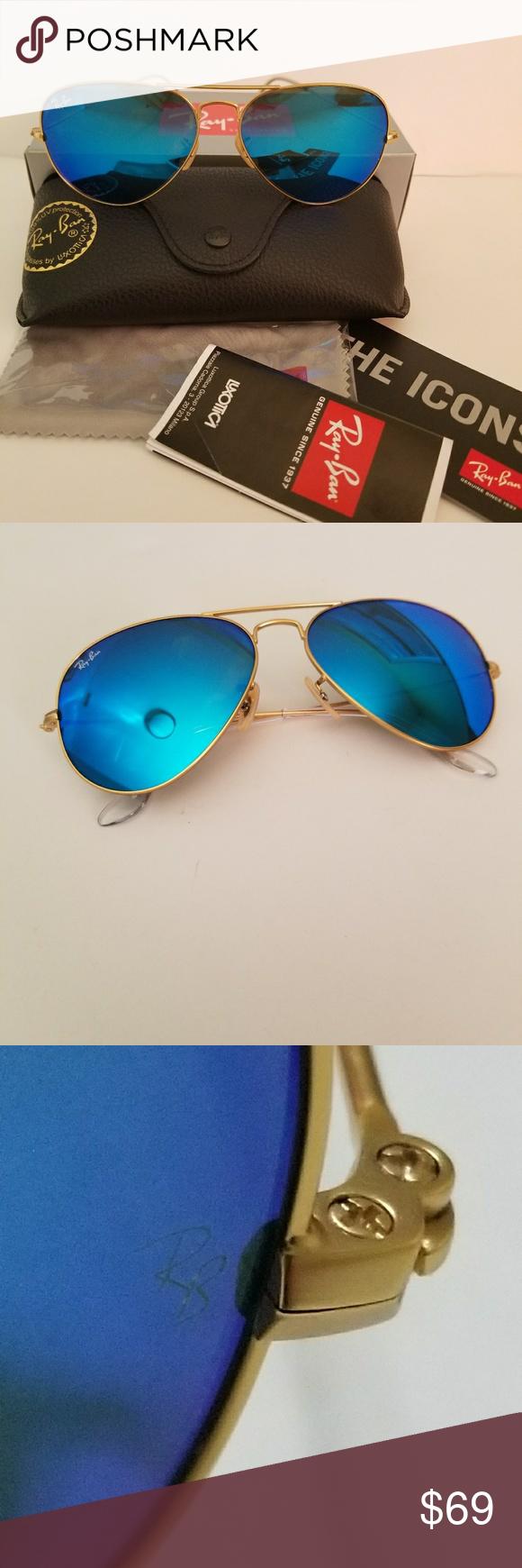 Ray ban aviator style mirror blue