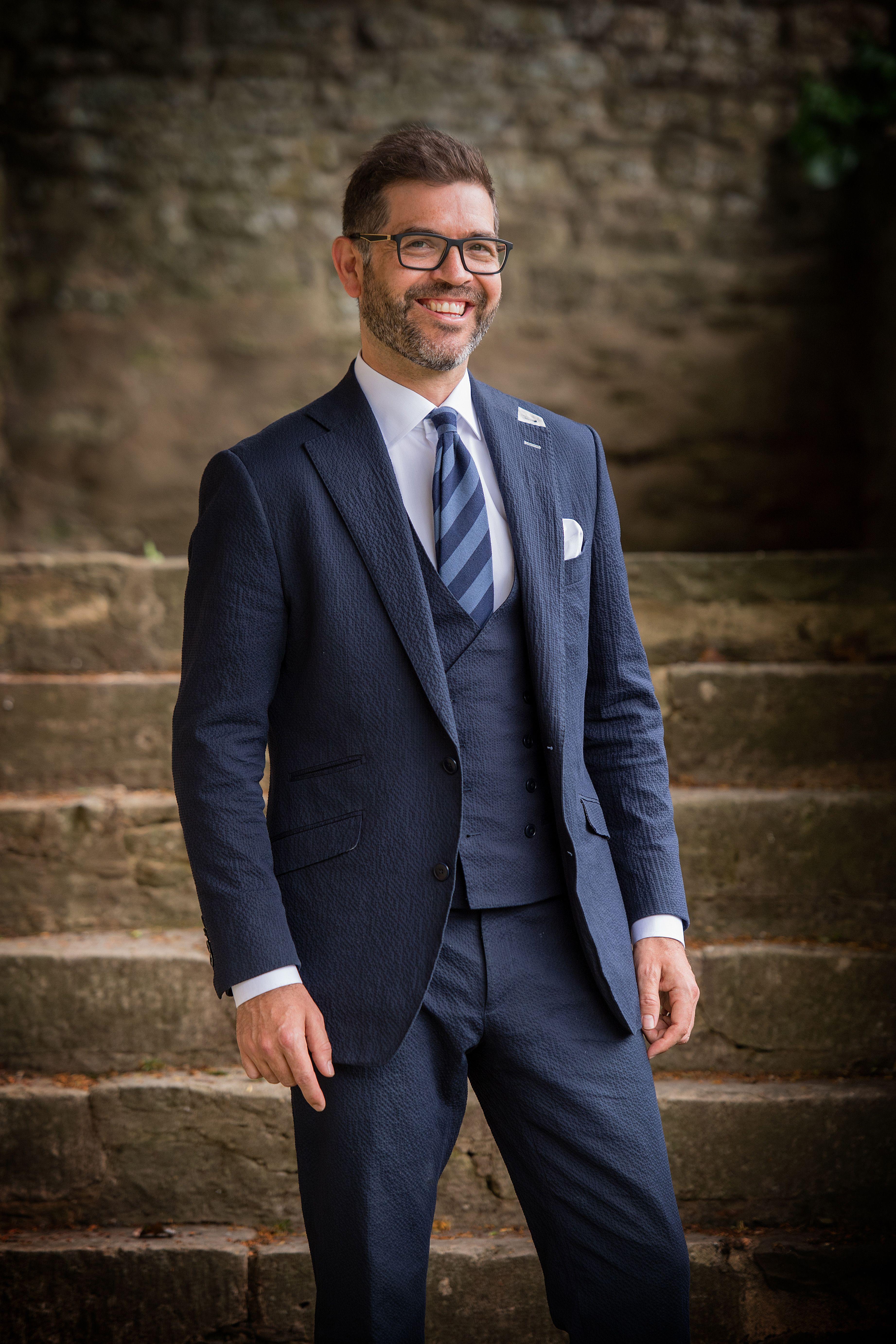 Summer Navy 3 piece suit in 2019 Summer wedding suits