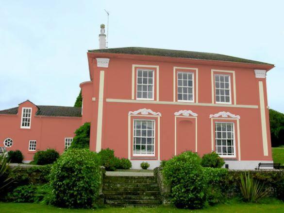 Casas fachada cor ocre pesquisa google casas for Casas modernas pintadas