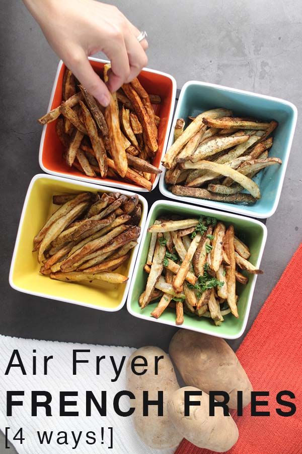 Perfect Air Fryer French Fries 4 Ways
