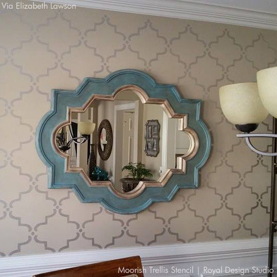 Moorish Trellis Wall Stencil | Ideas for the House ...