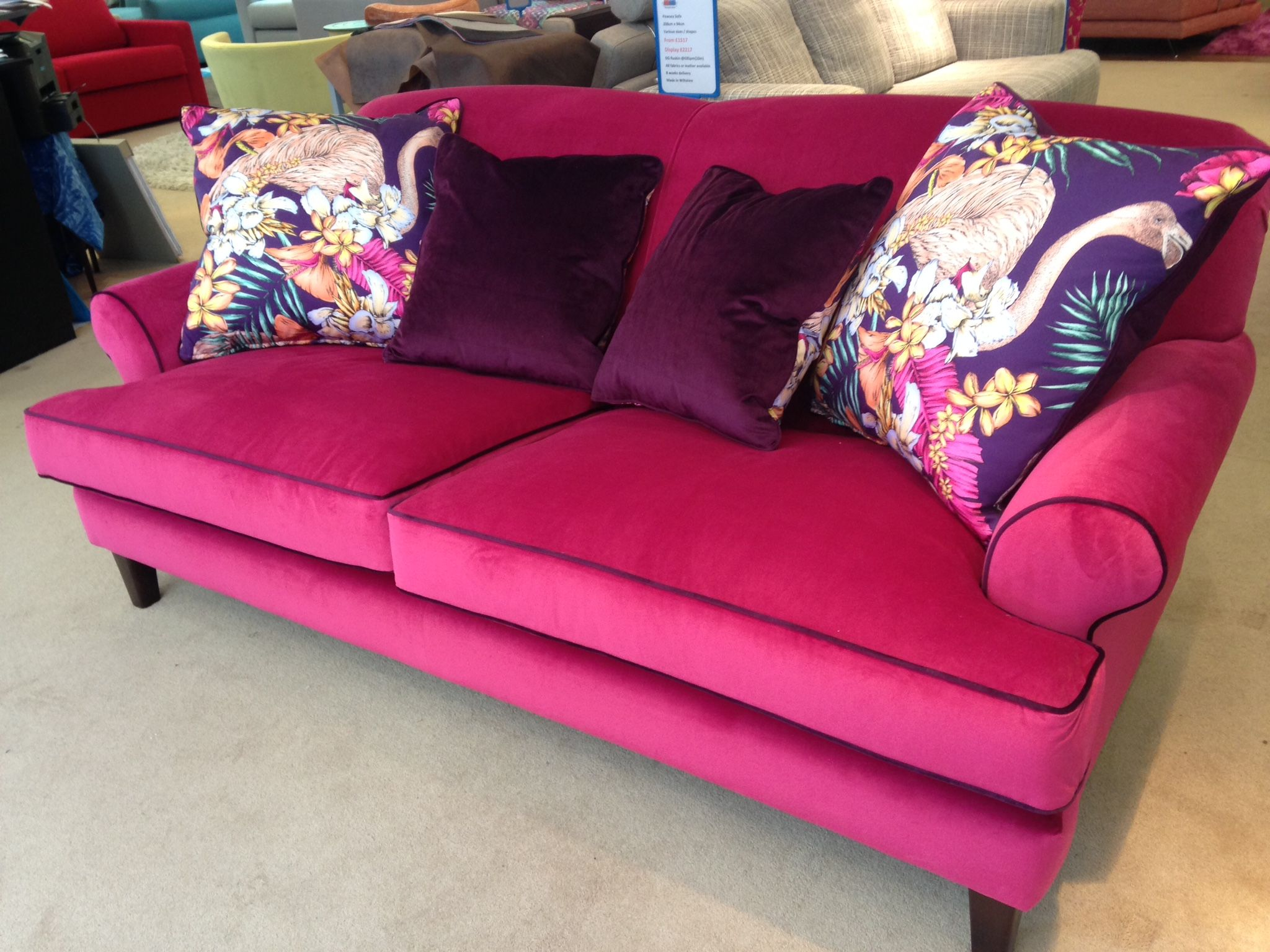 tufted today knight loveseat by velvet free home shipping garden overstock product arm scroll milani christopher plum