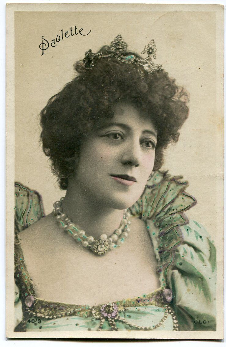Vintage French RPPC Postcard Artist Stage Star Miss Paulette