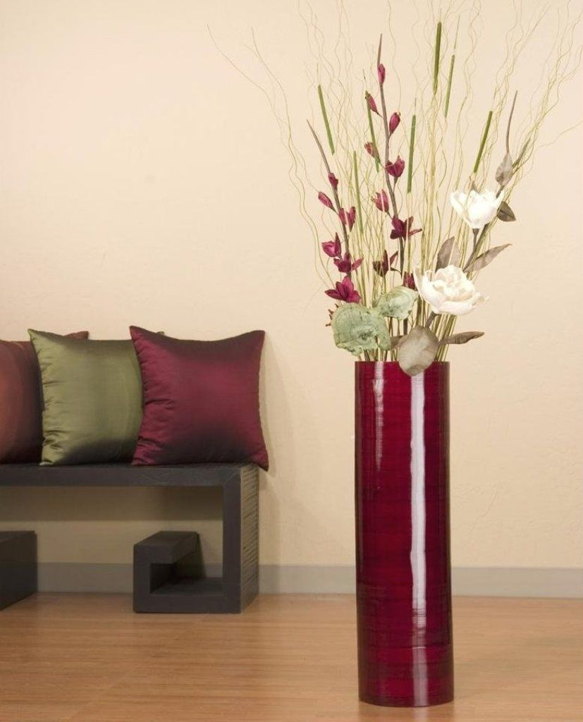 Simple cylinder red floor vase ideas on lacquered flooring plan diy large bamboo vases branch arrangements in tall floor vases in size 3000 x 1688 large floor vase flower arrangements flowers liven up our home in addi reviewsmspy