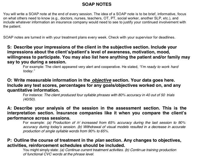 soap note examples mental health