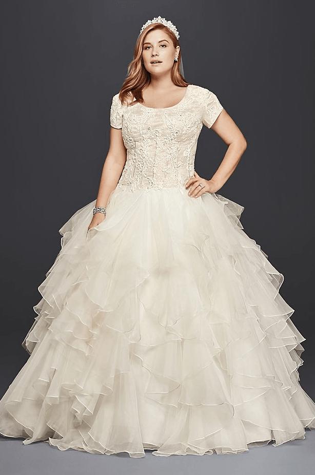 25 Modest Plus Size Wedding Dresses – LDS Wedding | Modest LDS ...