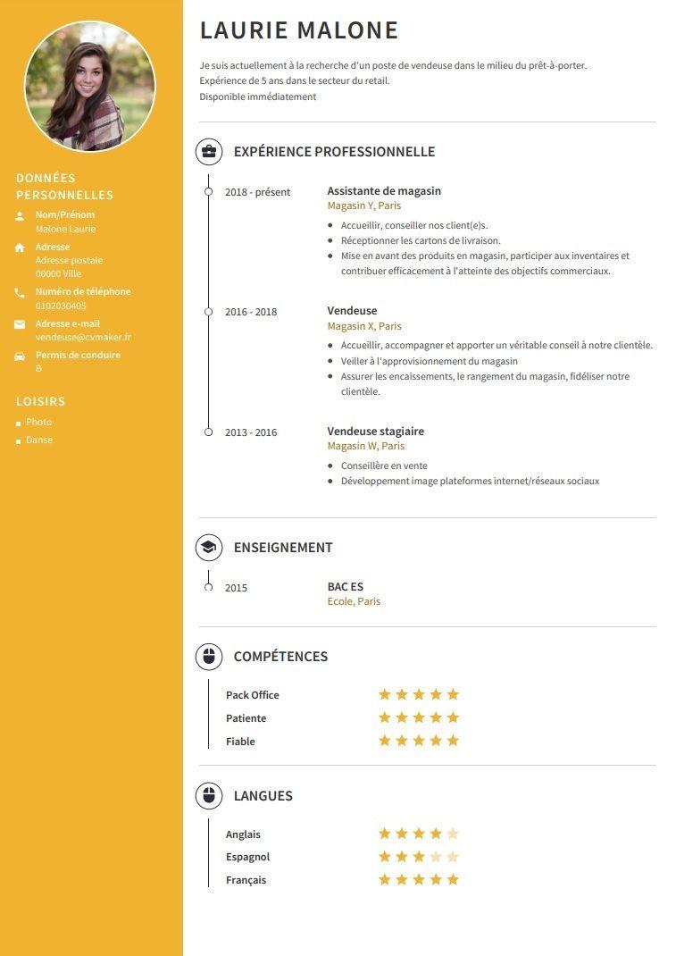 Exemples De Cv Professionnel A Telecharger Cvmaker Modele De Cv Professionnel Exemple De Cv Professionnel Exemple Cv