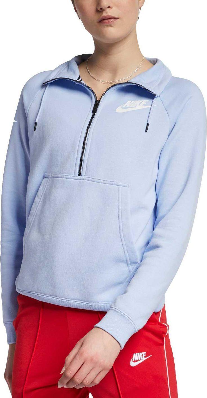 Nike Women S Sportswear Rally Half Zip Sweatshirt [ 1413 x 736 Pixel ]