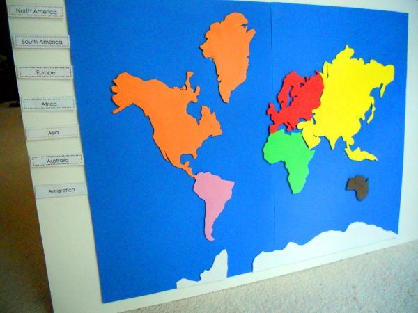 project 18 Make A Montessori Continent Map Foam crafts, Geography - best of large printable world map pdf
