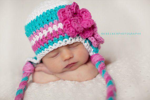 868caa96afb7b7 girls hat, Hat for girls, newborn girl hat, girls winter hat, girls hat,  crochet girls hat, little