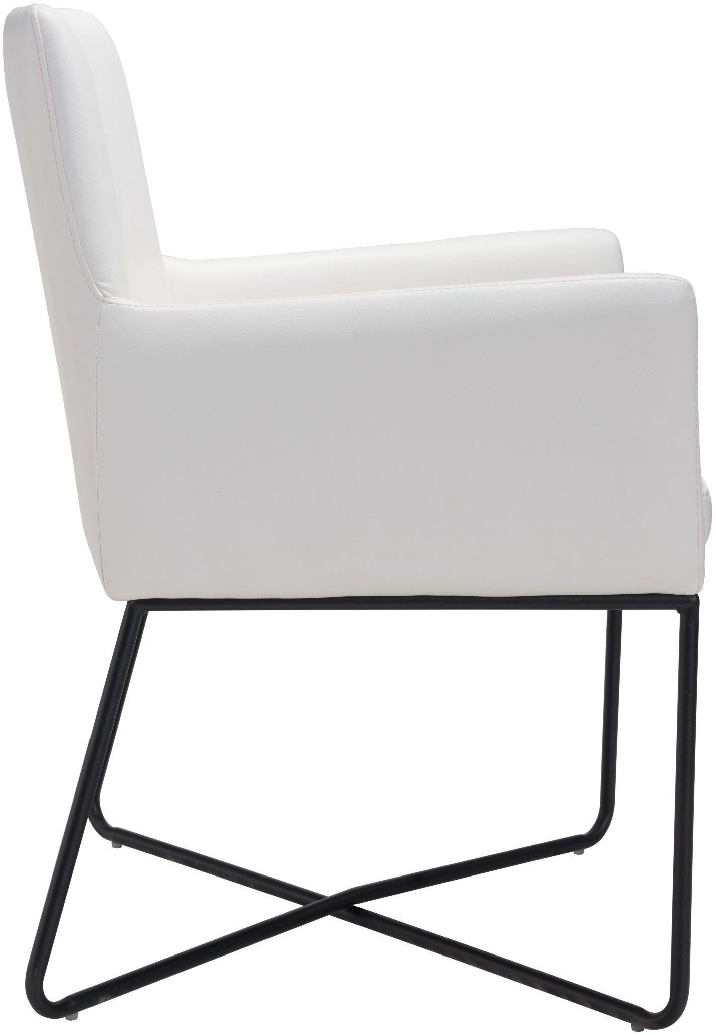 ZUO Modern Axel Lounge Chair White Dining Chairs Stools