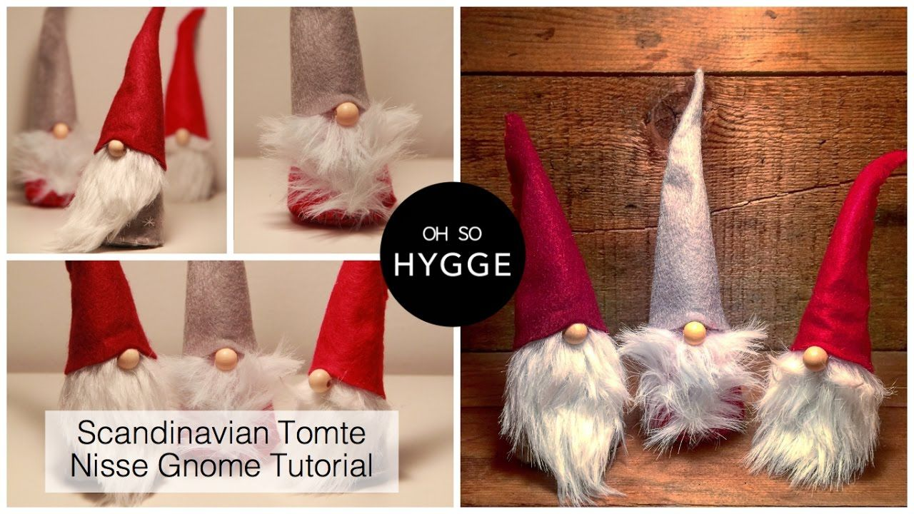 Scandinavian Tomte Nisse Christmas Gnome DIY Tutorial