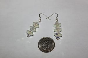 AB Swarovski Crystal and Sterling Silver Earrings $29.99