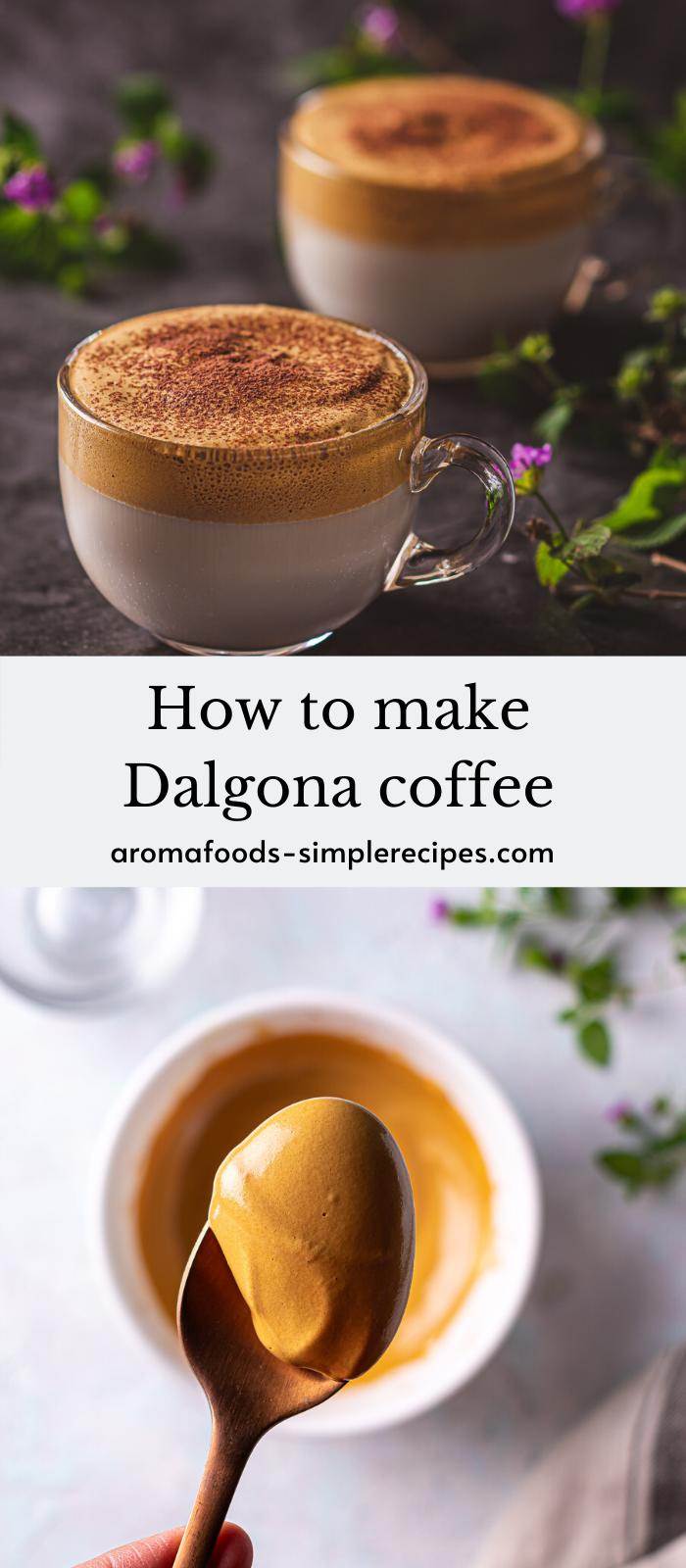 Dalgona coffee recipe in 2020 Easy coffee recipes