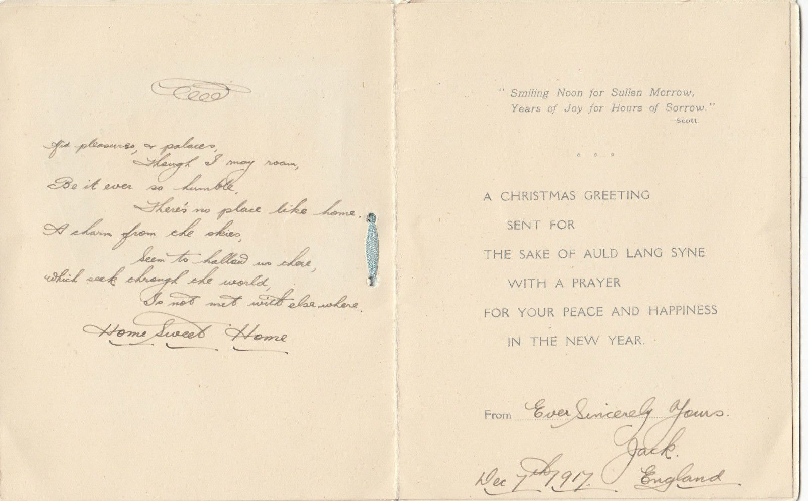 Ww1 anzac australian christmas greetings card poem 1917 from soldier ww1 anzac australian christmas greetings card poem 1917 from soldier jack rare kristyandbryce Gallery