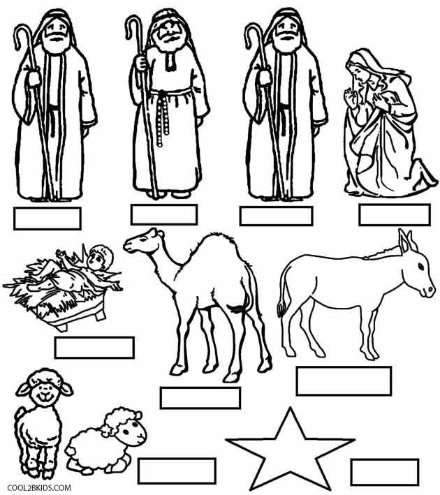 photograph about Printable Nativity Scene identified as Printable Nativity Scene Coloring Webpages for Children