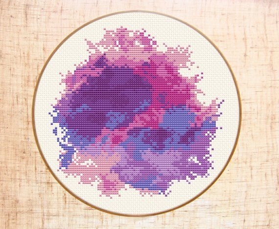 cross stitch pattern Modern cross stitch Girl nursery x-stitch Customizable Counted crossWatercolor cross stitch pattern Modern cross stitch Girl nursery x-stitch Customizable Counted cross
