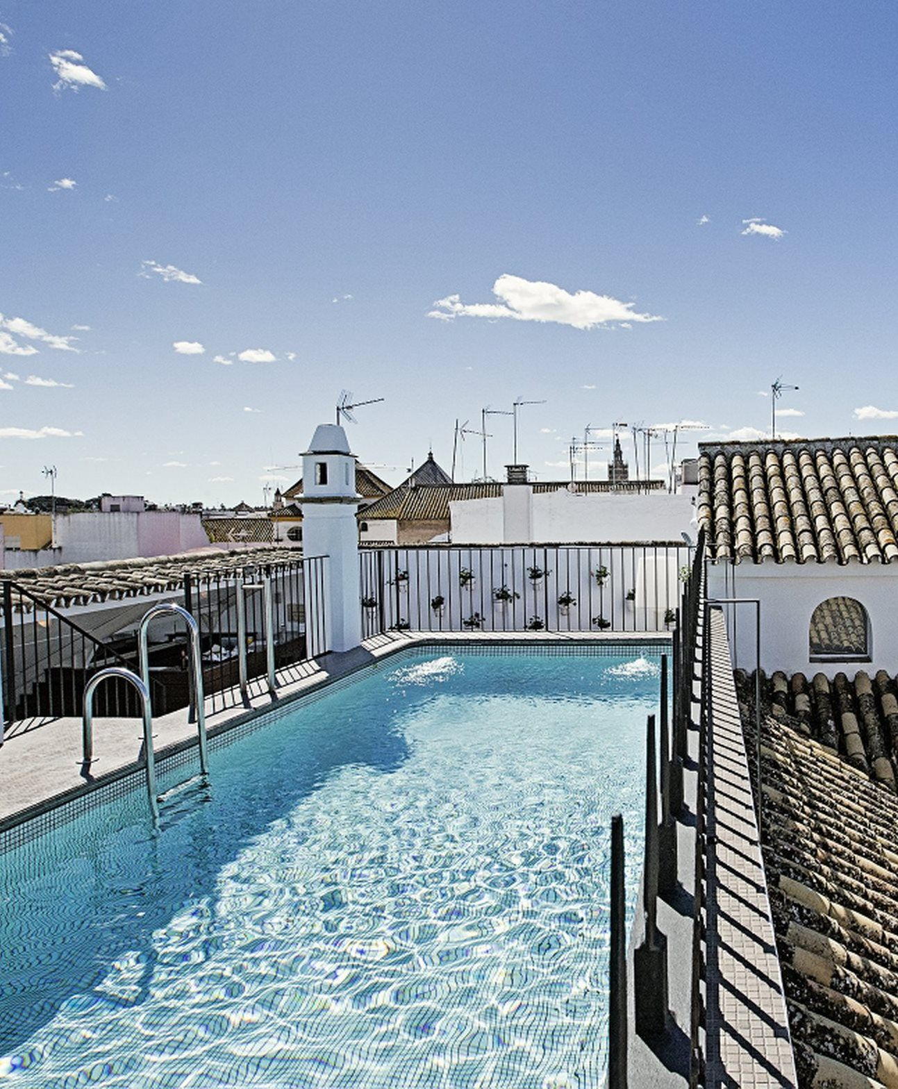 Amazing rooftop pool at Hospes Las Casas del Rey Baeza in