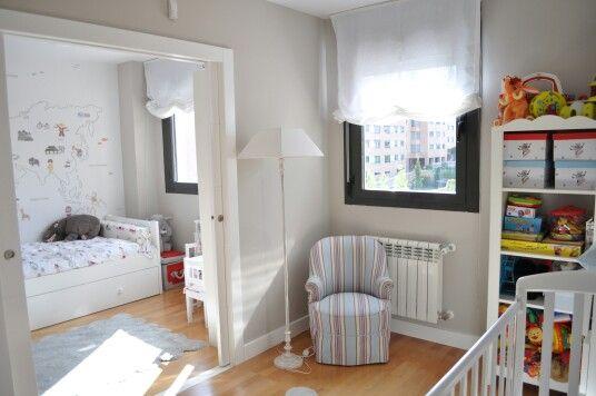 Habitaci nes compartidas separadas por puerta corredera - Habitaciones infantiles compartidas ...