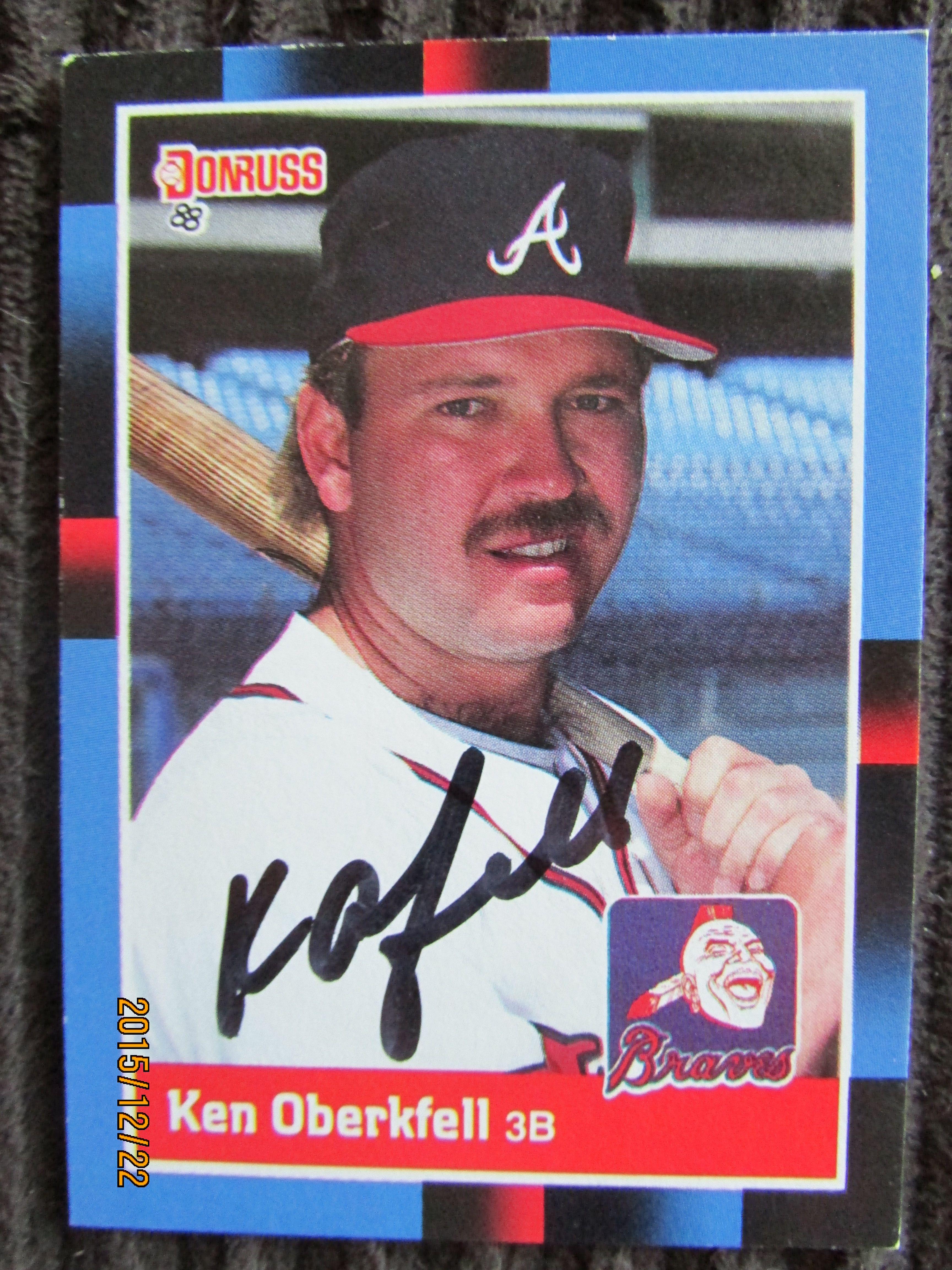 1988 donruss 67 ken oberkfell ttm baseball cards