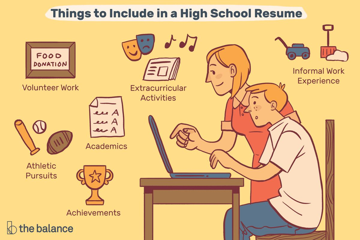 High school resume examples and writing tips high school
