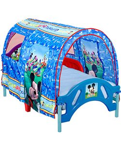 Mickey Mouse Clubhouse Toddler Tent Bed $89.99 Bedtime is more fun with this tent bed from Mickey Mouse Clubhouse! The tent canopy features roll-down sides ...  sc 1 st  Pinterest & Mickey Mouse Clubhouse Toddler Tent Bed $89.99 Bedtime is more fun ...