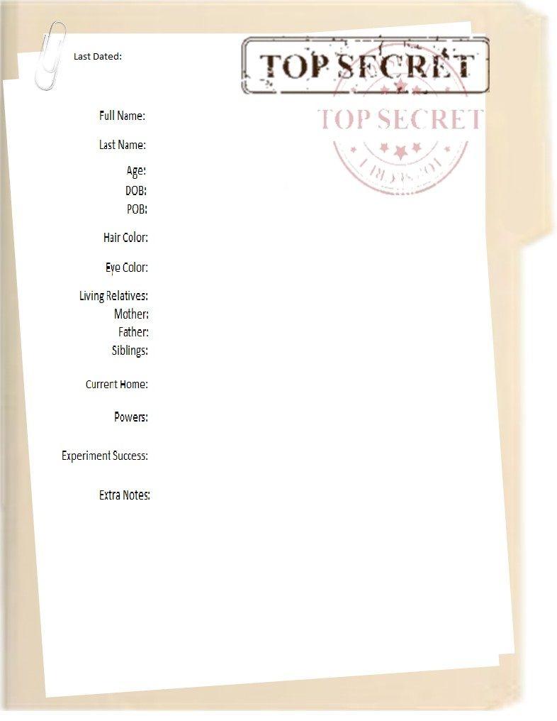 top secret folder template free download folder. Black Bedroom Furniture Sets. Home Design Ideas