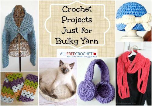 15 Bulky Yarn Crochet Patterns | Probar, Varios y Ganchillo