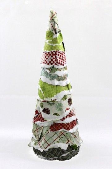 Albero di Natale di carta, fai da te ed ecologico
