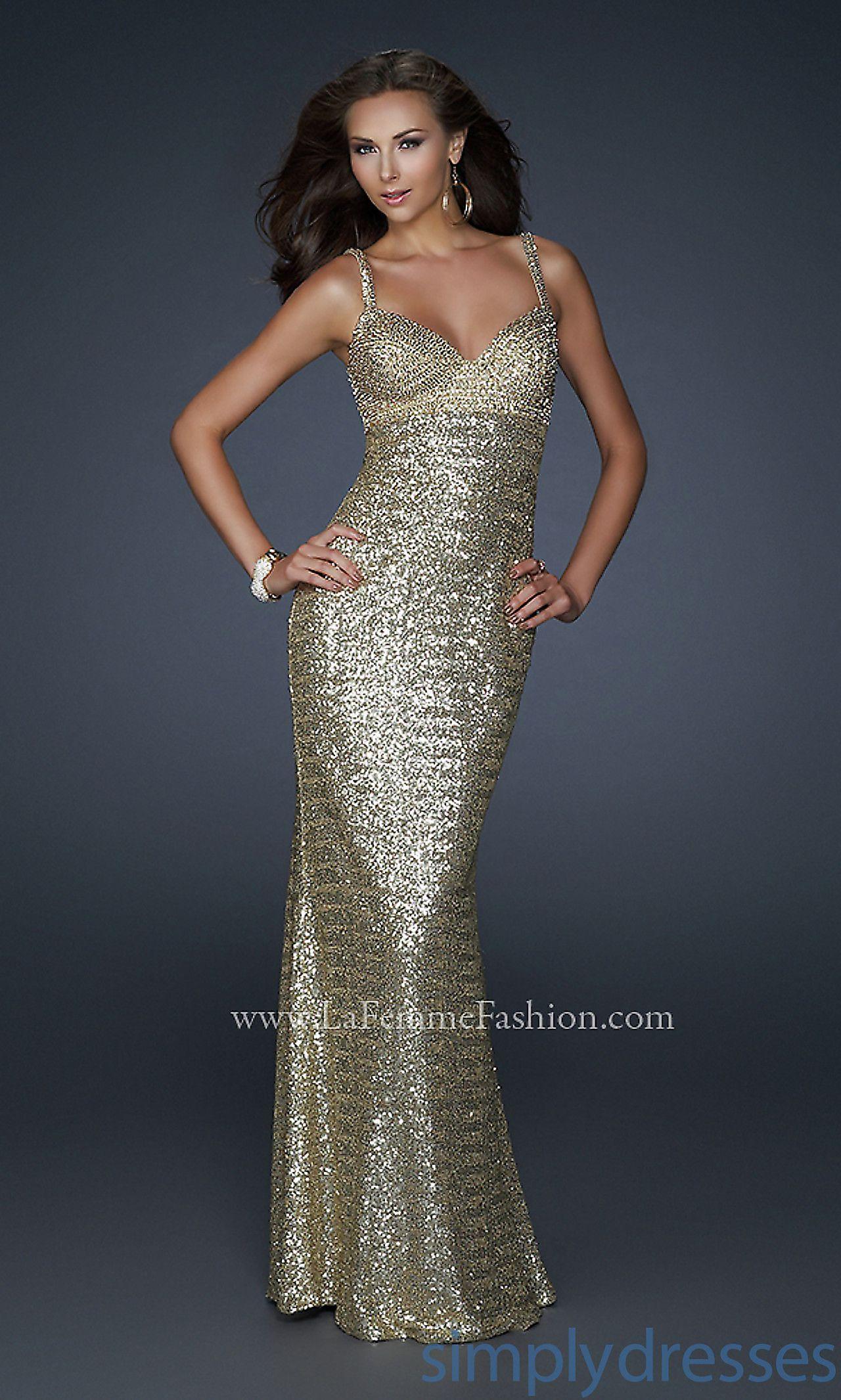 Gold sequin embellished la femme dress lf fashion