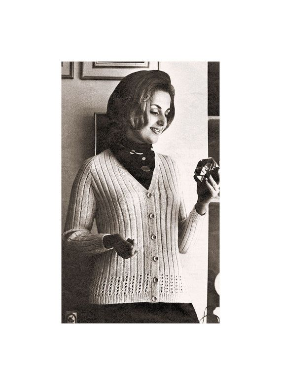 Instant Download PDF KNITTING PATTERN to make a Ribbed Raglan Sleeve ...