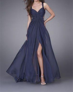 cómo hacer pedidos donde puedo comprar última tecnología Azul de una pierna descubierta | Enamorada de los vestidos ...