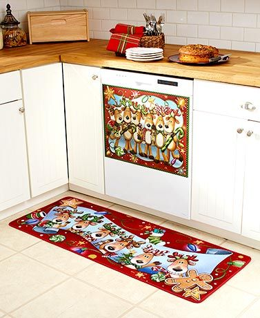 For The Best Christmas Decoration Ideas Try Incorporating Whole Reindeer Family In Your Kitchen From Rugs To Magnets And
