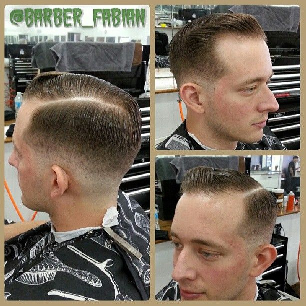 Mid fade sidepomp.  #sidepomp #miamibarber #pdx #bound #barber #haircut #pomp #sidepart #layritepomade #layrite #midfade #fade #kotf #keepersofthefade #part #hair #pomade