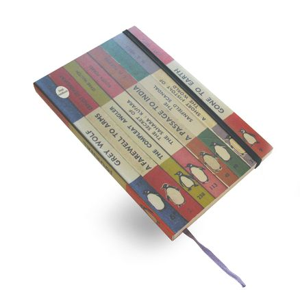 Penguin Spines Notebook: Lined (Large)