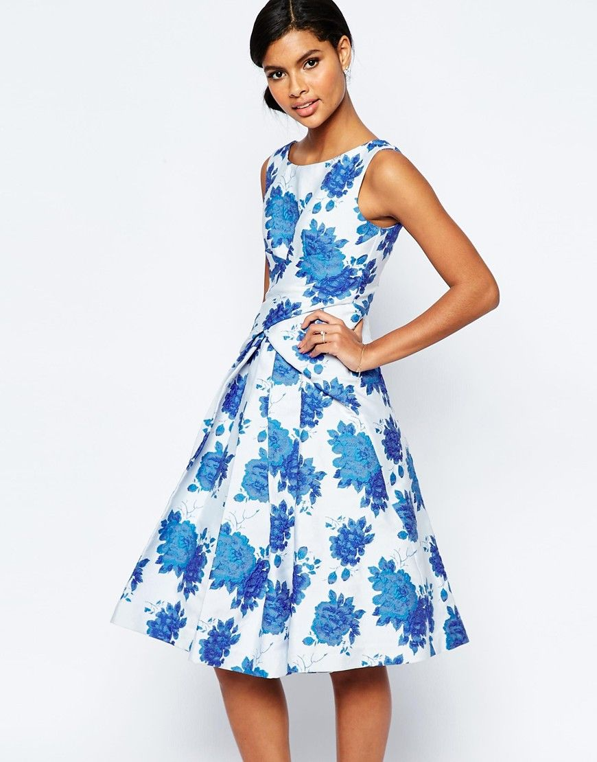 Blue rose prom dress