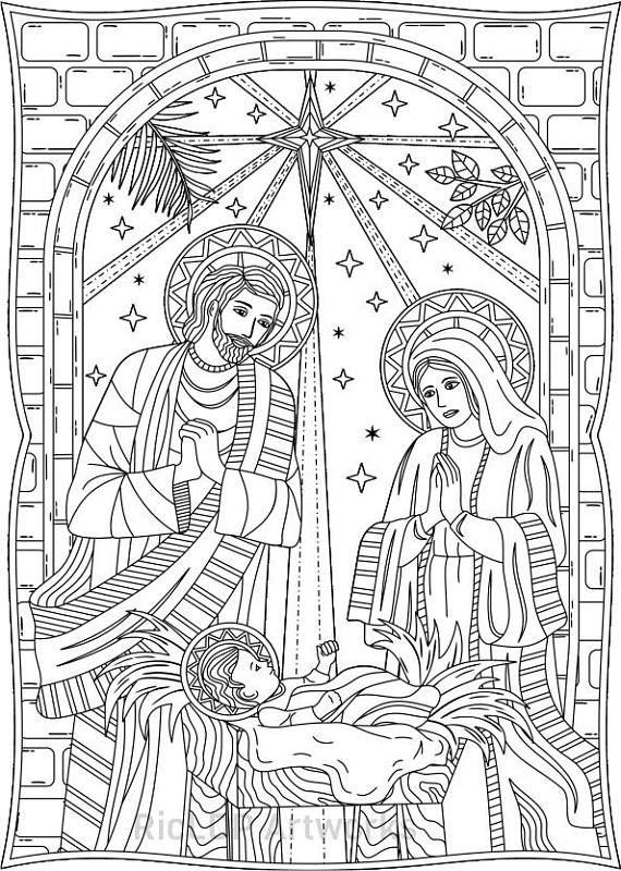 Set Of 3 Christmas Coloring Pages Yuletide Gifts Toys Lantern Doodles Nativity Artwork Digital Download Nativity Coloring Pages Printable Christmas Coloring Pages Nativity Coloring