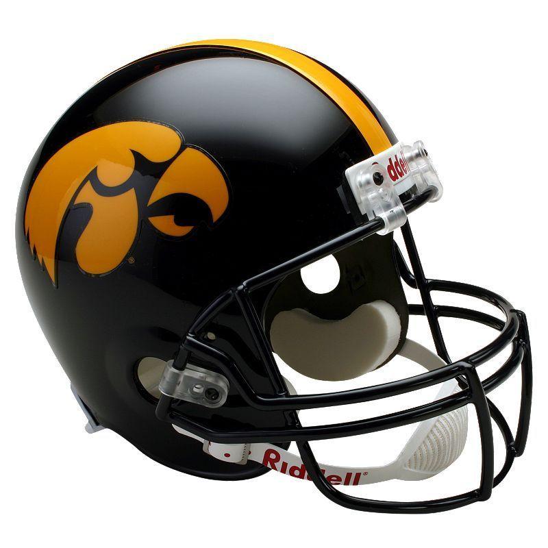 Riddell Iowa Hawkeyes Collectible Replica Helmet, Black