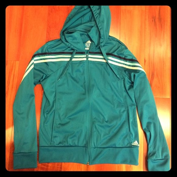 NWT adidas jacket NWT adidas switch jacket in teal blue. Perfect condition. Adidas Jackets & Coats