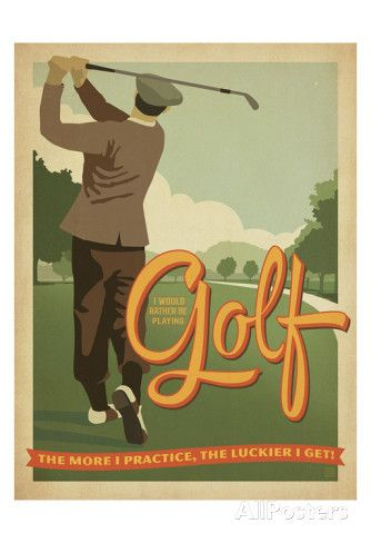 Golf Lucky Posters by Anderson Design Group at AllPosters.com