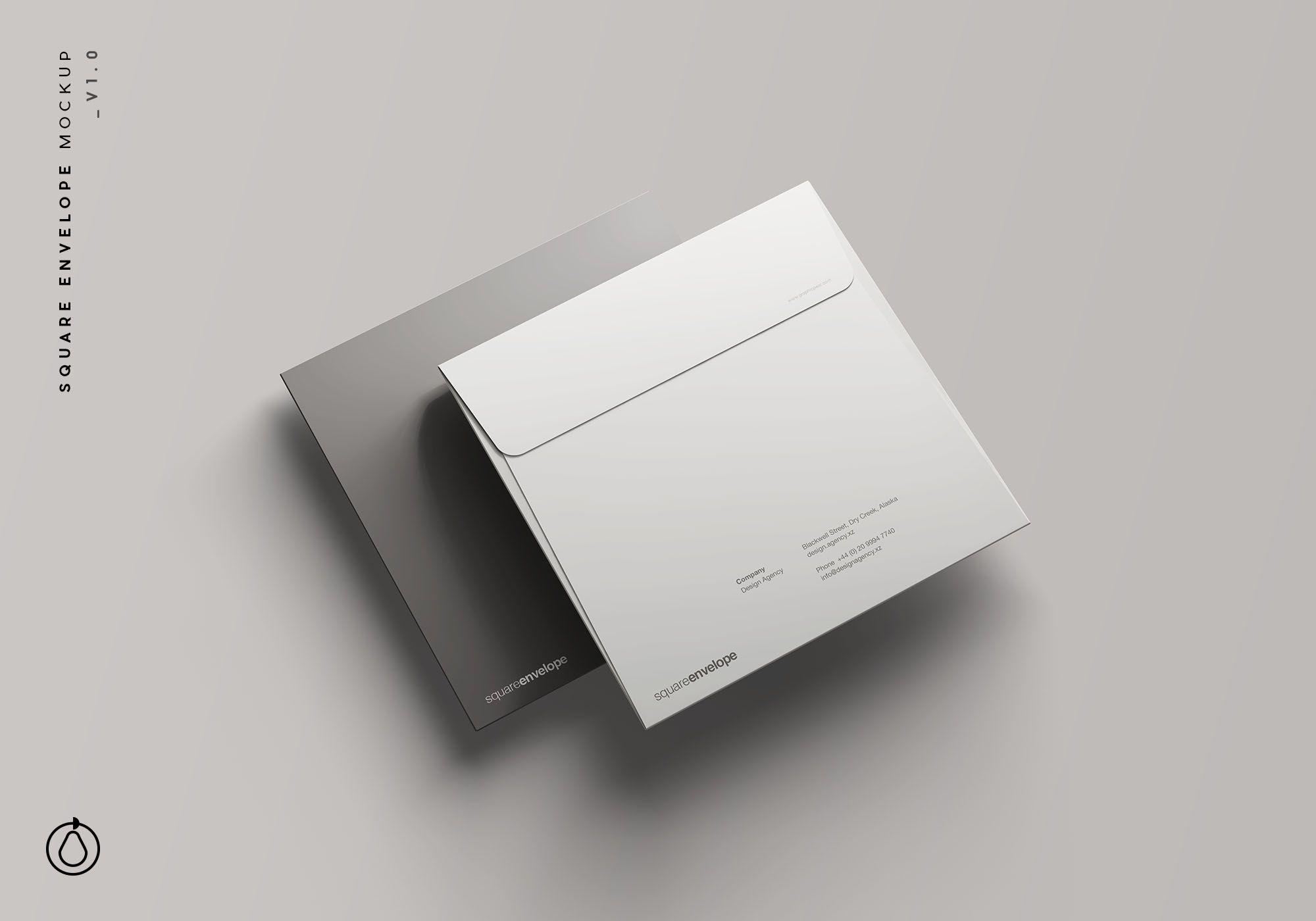 Square Envelope Mockup Square Envelopes Letterpress Christmas Cards Free Stationery