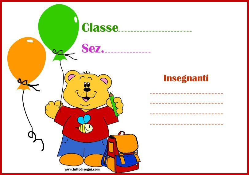 Cartello porta aula da stampare pinterest aula for Cartelli porta aula scuola primaria