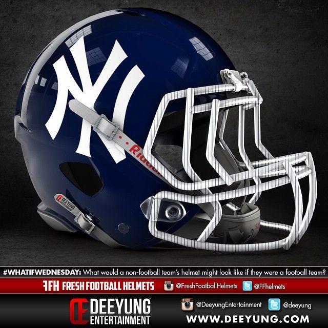 New York Yankees Football Helmets College Football Helmets