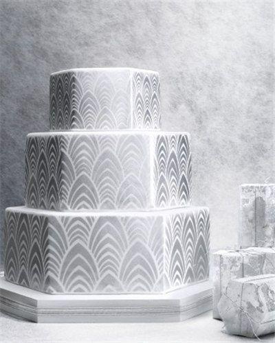 Martha Stewart Wedding Art Deco Cake Side Stencil By LilyBearLane