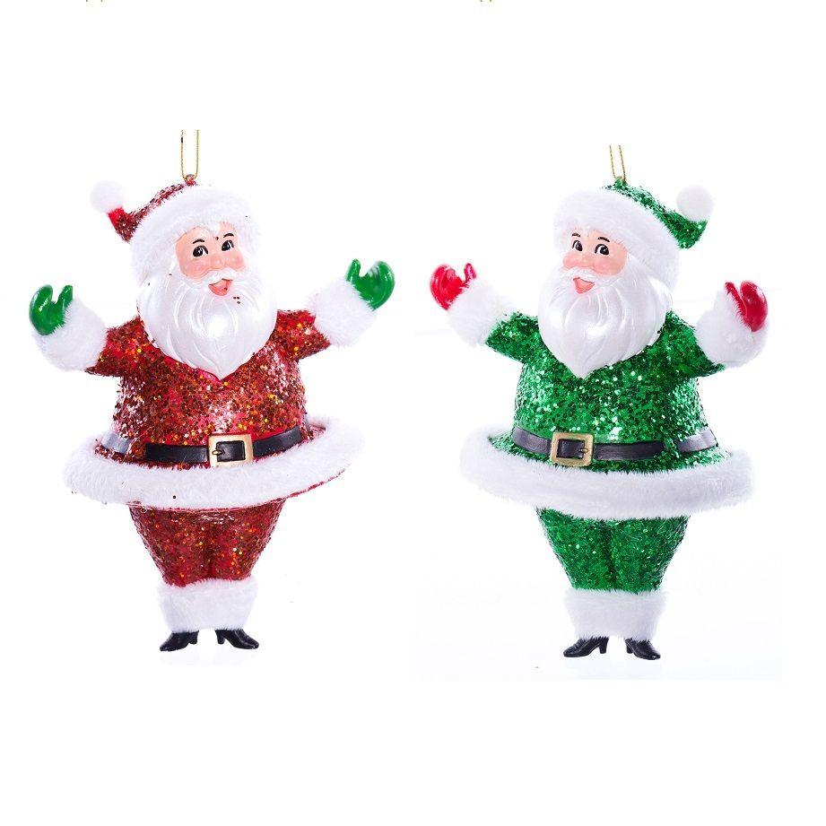 Retro Santa Tree Ornaments - Set of 2 - RetroFestive.ca