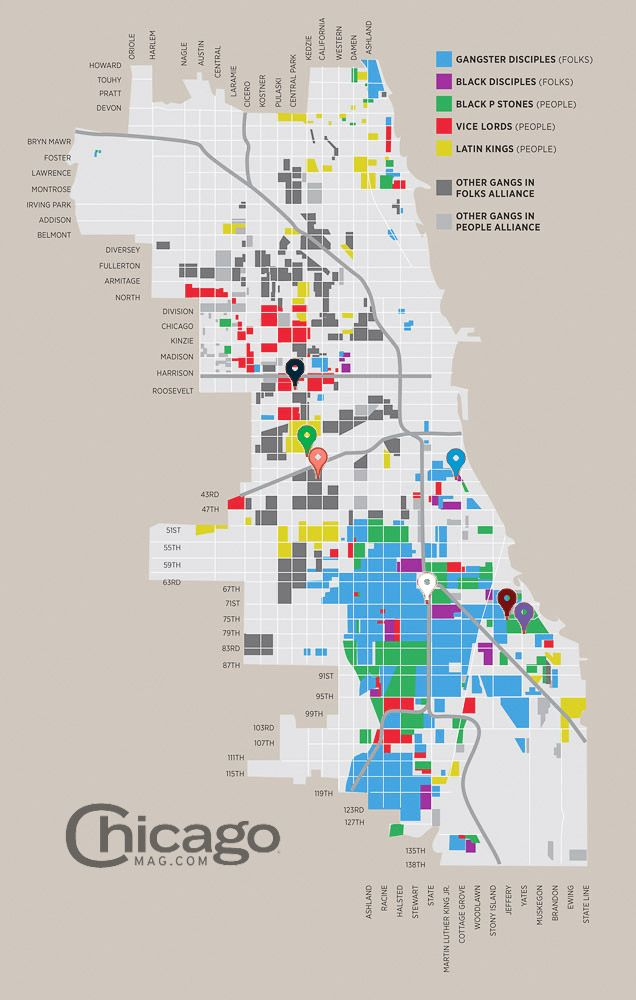 Last Night\'s Mass Shootings and Chicago Gang Territory - The 312 ...