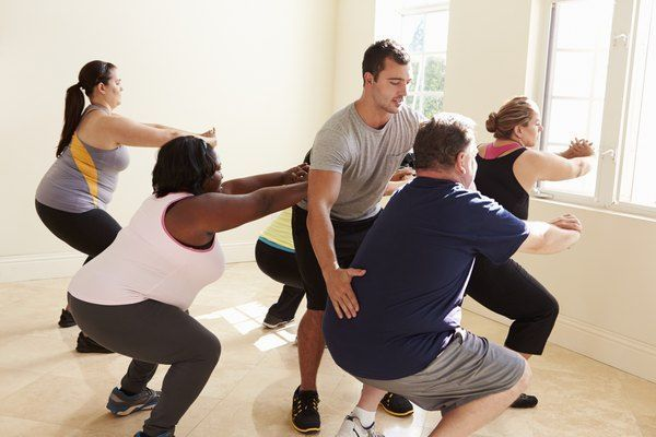 #Class #exercise #Fitness #Instructor #obesity plan #overweight #people         Fitness Instructor I...